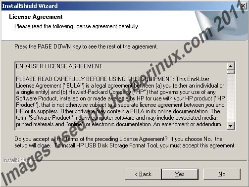 HP USB Disk Storage Format Tool used by Jcyberinux