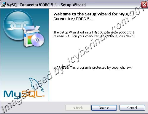 MySQL ODBC Connector used by Jcyberinux
